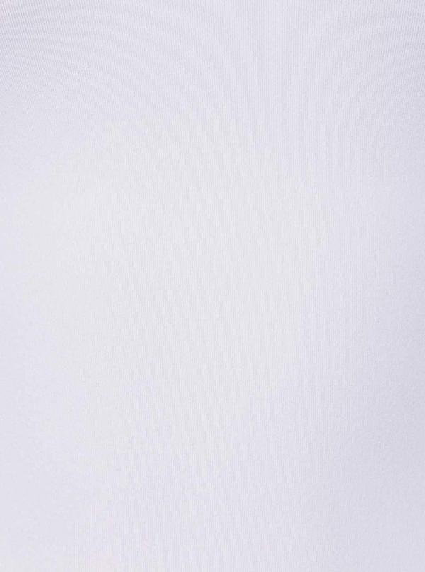 Biele elastické tielko Pieces Plain