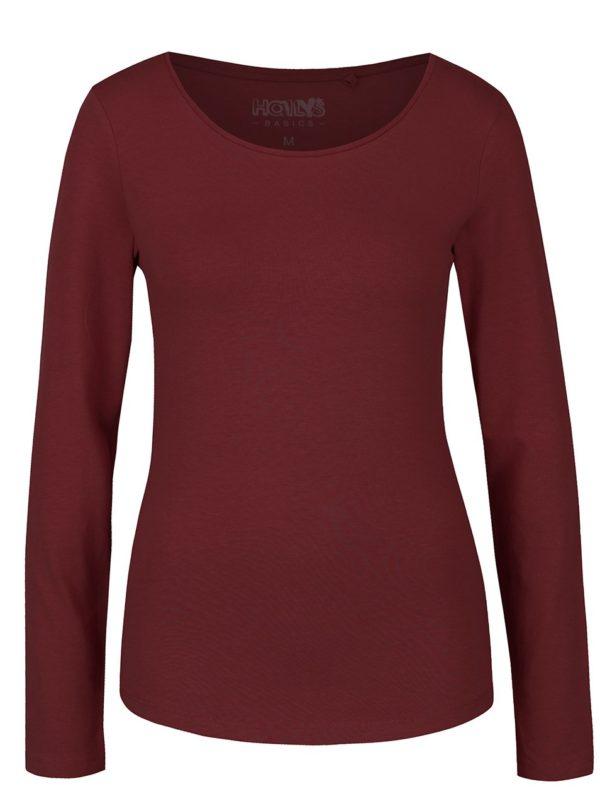Vínové tričko s dlhým rukávom Haily's Tina