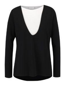 Čierno-biely top s dlhým rukávom VILA Bava