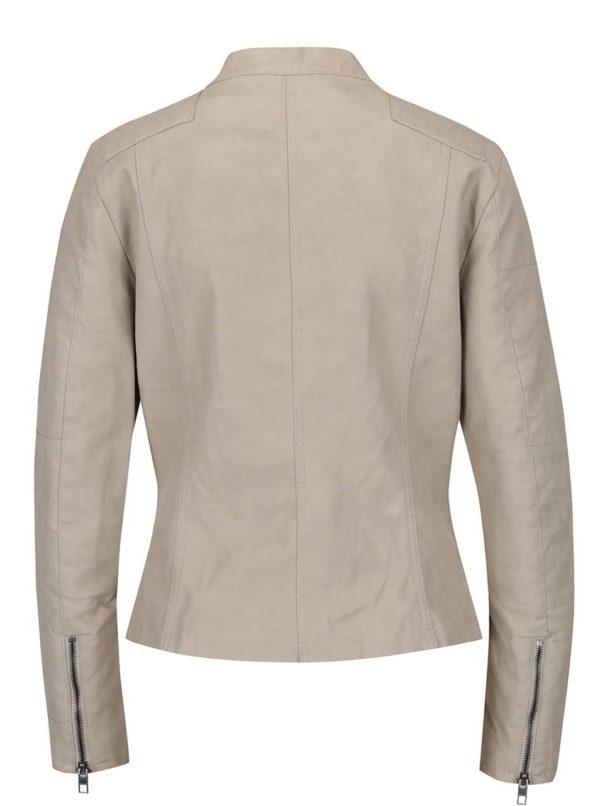 Béžová koženková bunda ONLY Biker