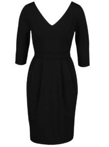 Čierne šaty s 3/4 rukávmi Closet
