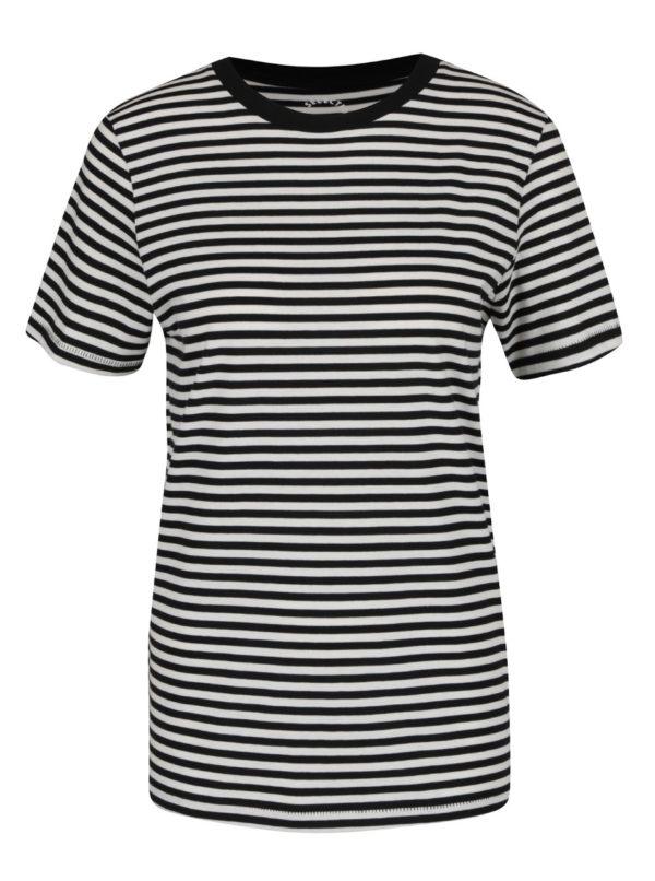 Čierno-krémové pruhované basic tričko Selected Femme My Perfect
