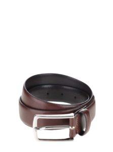 Hnedý kožený opasook Jack & Jones Premium Chris