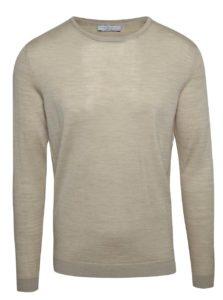Svetlobéžový sveter z Merino vlny Selected Homme Tower