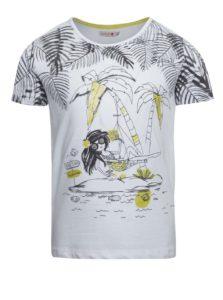 Biele dievčenské tričko krátkym rukávom Bóboli