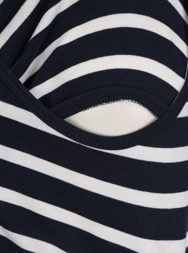 Súprava dvoch kojacich/tehotenských tielok v bielo-sivej a bielo-modrej farbe Mama.licious Lea