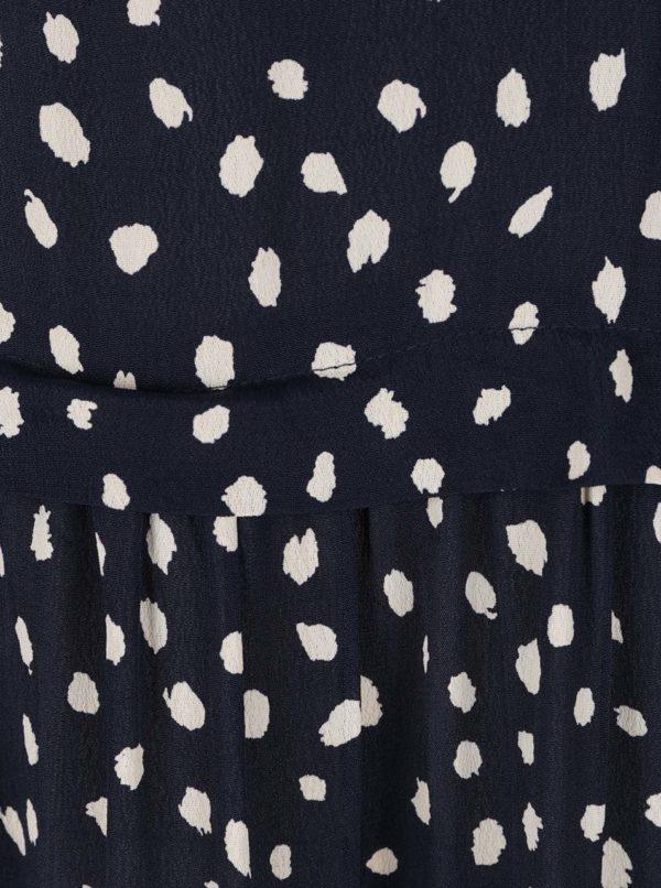Tmavomodré šaty so vzorom VILA Laury