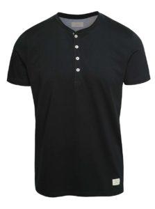 Čierne tričko s gombíkmi Selected Homme Niklas