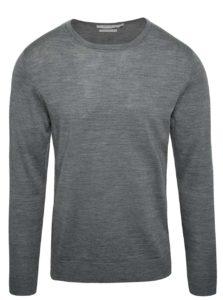 Sivý sveter z Merino vlny Jack & Jones Premium Mark