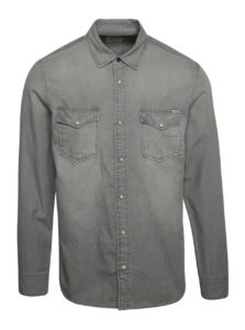 Svetlosivá rifľová košeľa Jack & Jones Sheridan