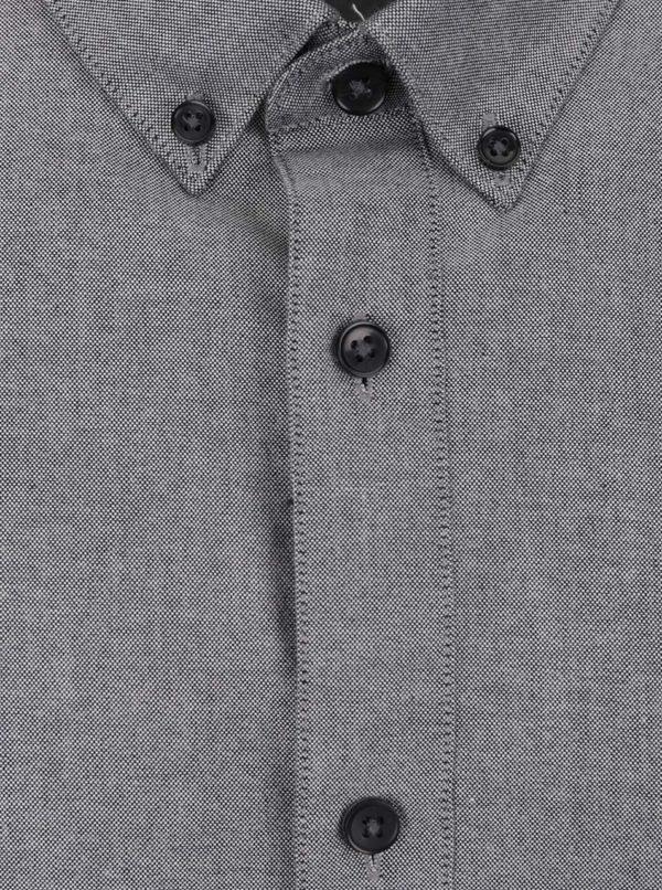 Svetlosivá košeľa s krátkym rukávom Burton Menswear London