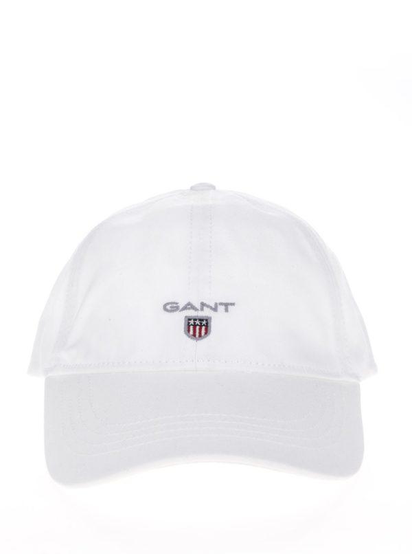 Biela pánska šiltovka s logom GANT Twill