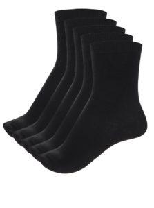 Súprava piatich párov ponožiek v čiernej farbe Pieces Emmy