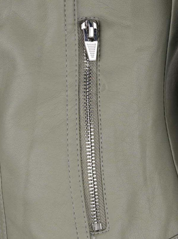 Svetlozelená koženková bunda VILA Aya  f6680c5b81f