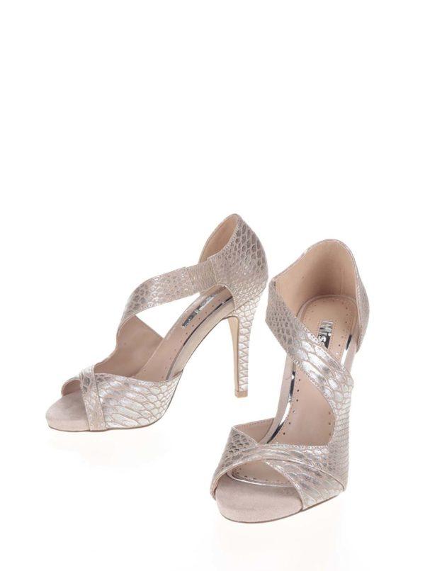 Sandále v béžovo-striebornej farbe Miss KG