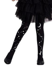 Čierne dievčenské pančuchy so svietiacou potlačou Penti Love Night 40 DNÍ