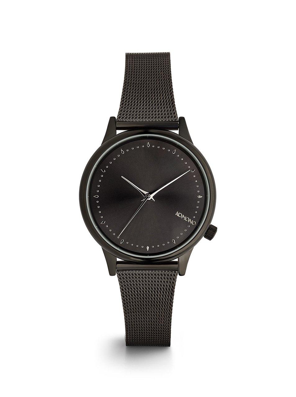 Čierne dámske hodinky s kovovým remienkom Komono Estelle Royale ... 283ff09197b