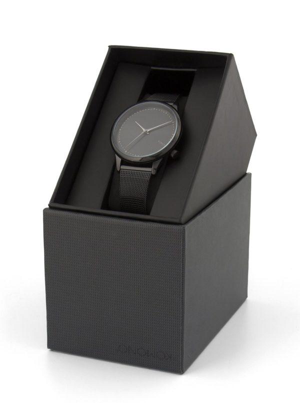 Čierne dámske hodinky s kovovým remienkom Komono Estelle Royale