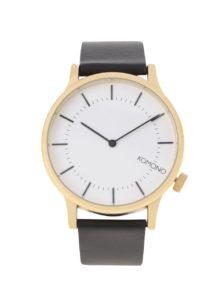Unisex hodinky v zlatej farbe s koženým remienkom Komono Winston Regal