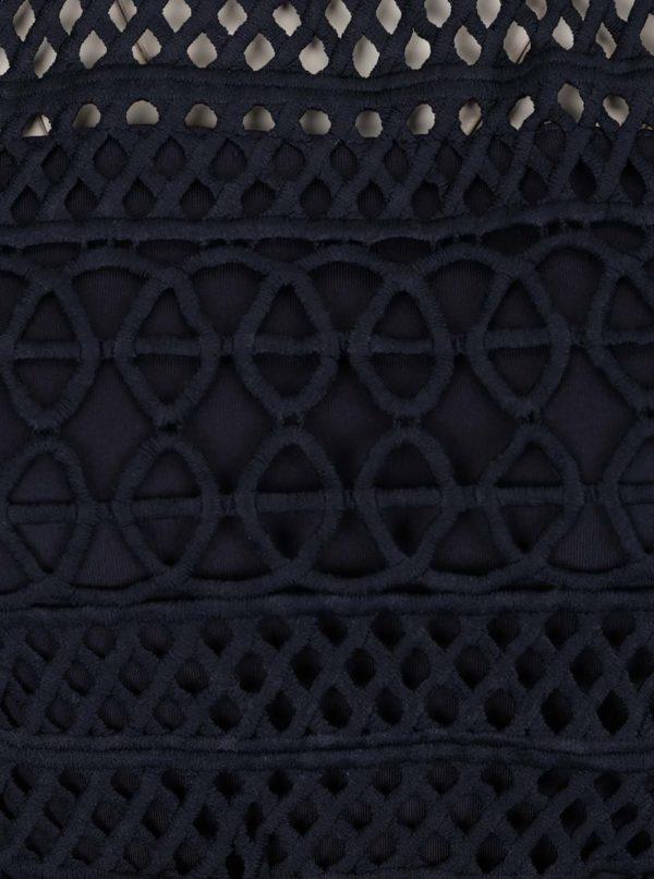 Tmavomodré perforované minišaty AX Paris