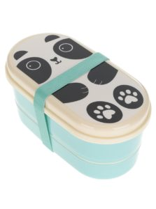 Tyrkysový box na jedlo s potlačou Sass & Belle Aiko Panda Kawaii