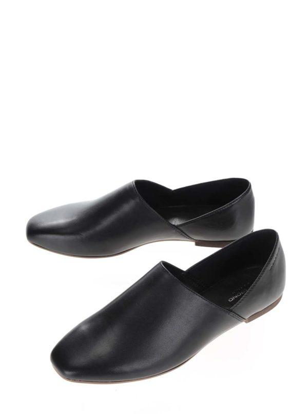 Čierne dámske kožené poltopánky Vagabond Ayden