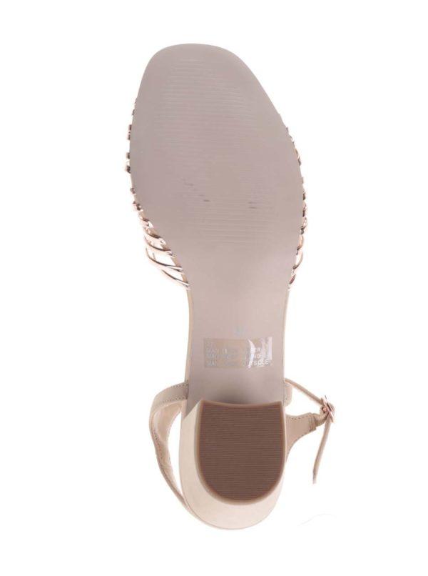 Staroružové metalické sandálky na podpätku Miss KG