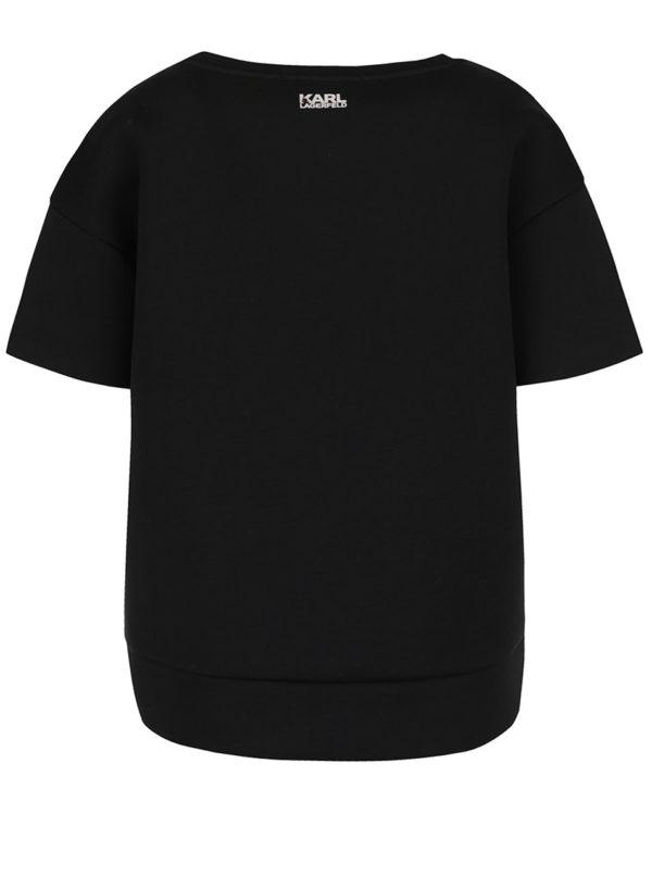 Čierny neoprénový top KARL LAGERFELD