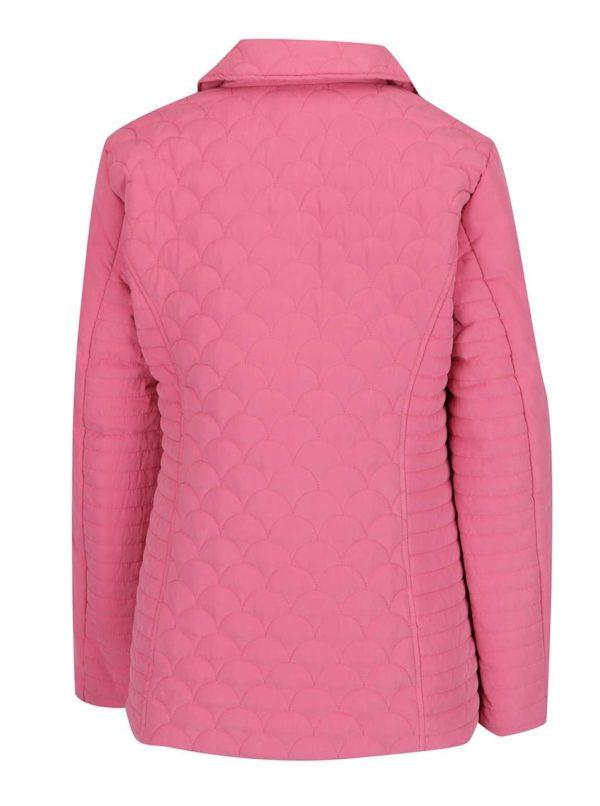Ružová dámska prešívaná bunda M&Co