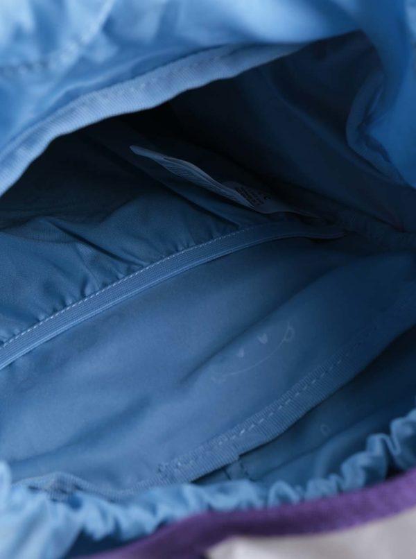 Fialový batoh v tvare psa Affenzahn
