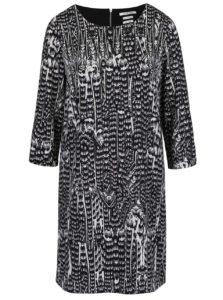 Sivo-čierne vzorované šaty s 3/4 rukávom Rich & Royal
