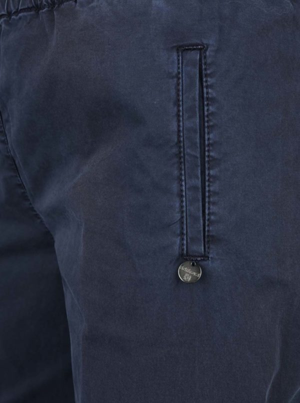 Sivomodré skrátené voľné nohavice Rich & Royal
