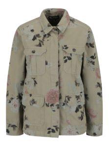 Khaki kvetovaná bunda Miss Selfridge