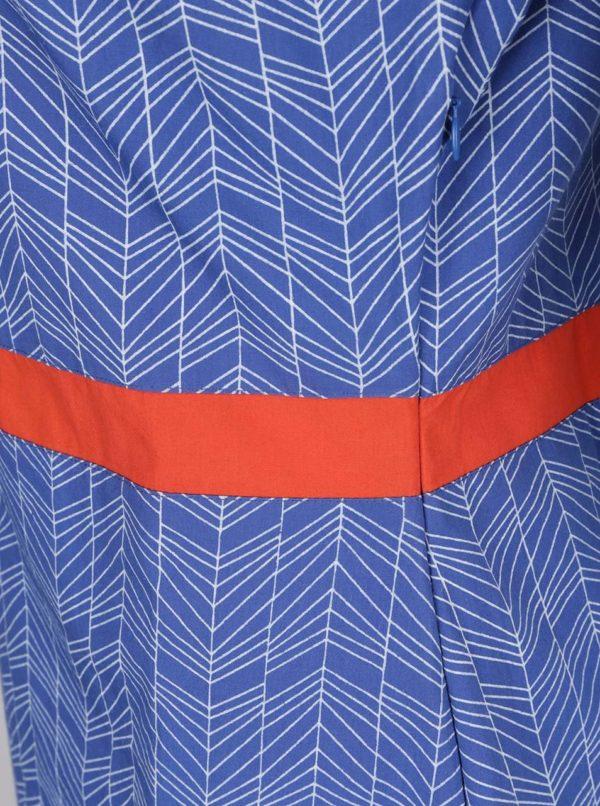 Modré vzorované šaty Tranquillo Aris