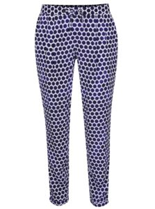 Bielo-modré dámske voľné bodkované nohavice Tom Joule Anice