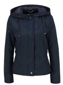 Tmavomodrá dámska bunda s kapucňou Geox