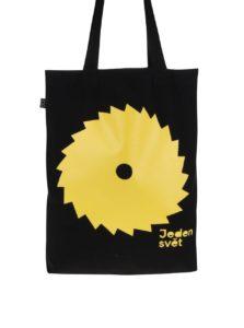 """Dobrá"" plátenná čierna taška pre Jeden svět 2017"