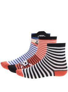 Červeno-modré pruhované chlapčenské ponožky 5.10.15