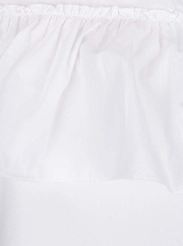 Biela asymetrická blúzka s volánom Noisy May Mella