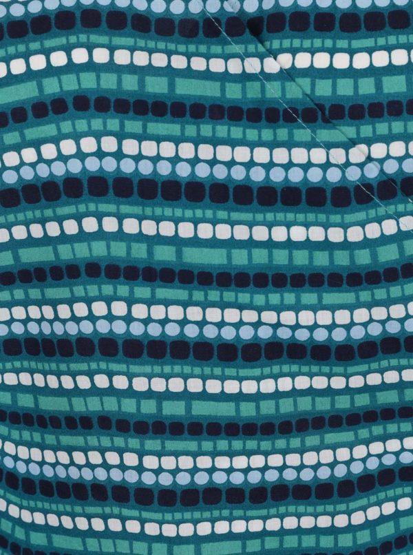 Tyrkysový vzorovaný top Tranquillo Lani