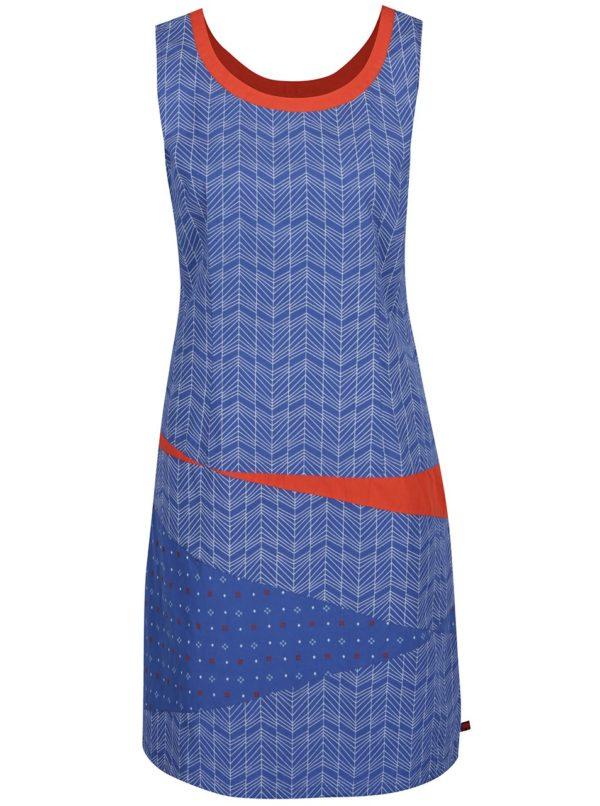 Oranžovo-modré vzorované šaty Tranquillo Bente