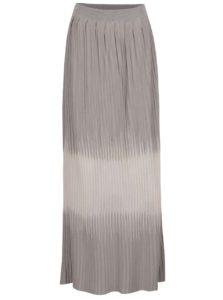 Ružovo-sivá dlhá plisovaná sukňa Pietro Filipi