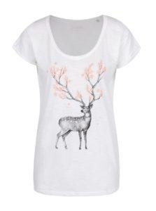 Biele dámske tričko ZOOT Originál Blossoming deer