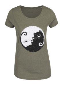 a1528c223506 Kaki dámske tričko ZOOT Originál Jinjang cats