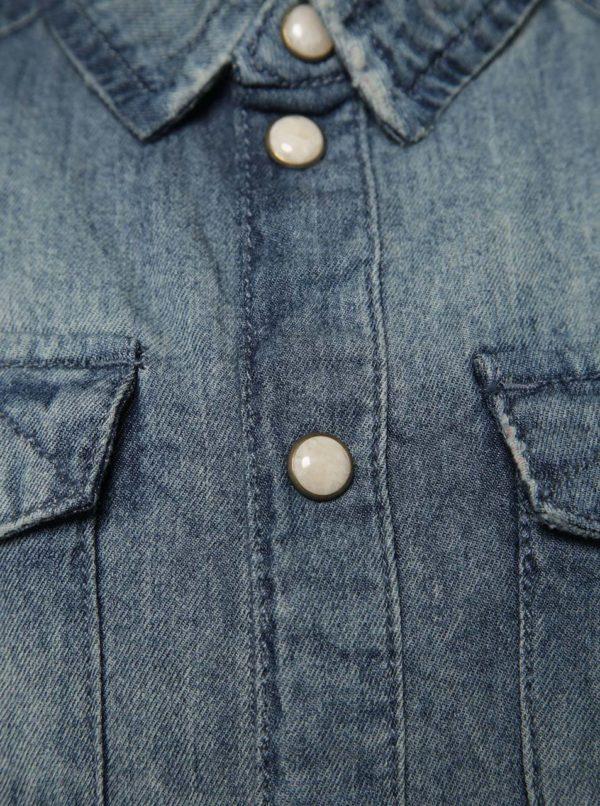 Modrá chlapčenská rifľová košeľa name it Acar