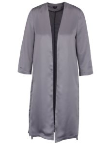 Sivé saténové kimono Miss Selfridge