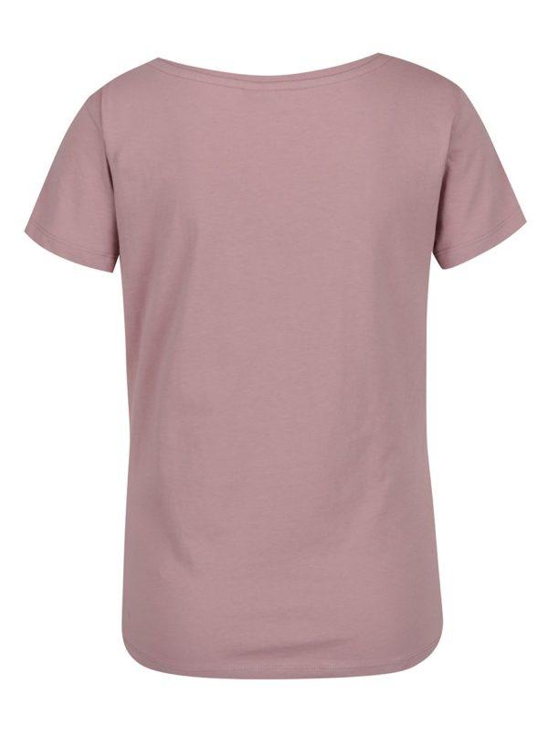 Ružové tričko s potlačou Jacqueline de Yong Chicago