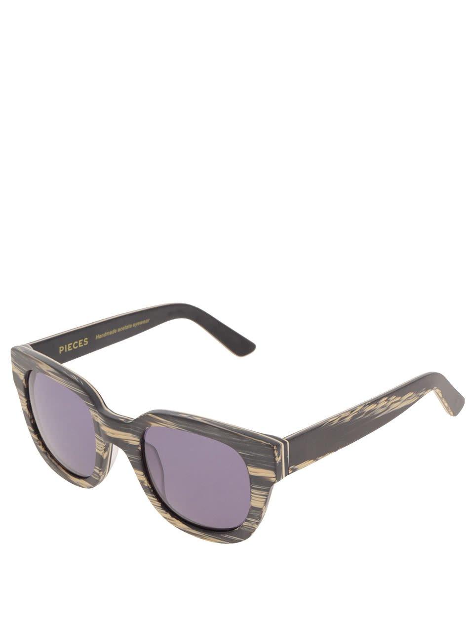 ed3a2c6e7 Béžovo-sivé melírované slnečné okuliare Pieces Goyo | Moda.sk