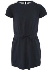 Tmavomodré dievčenské šaty s čipkou name it Ida