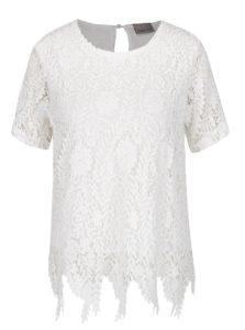 Biele čipkované tričko VERO MODA Flora